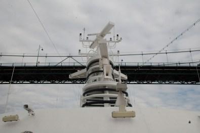 Sailing under the Lions Gate Bridge
