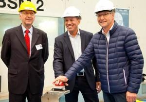(Left to right) Bernard Meyer, Managing Director of Meyer Werft, Andy Stuart, President of Norwegian Cruise Line; and Christer Karlsson, Senior Vice President of New Build for Norwegian Cruise Line.