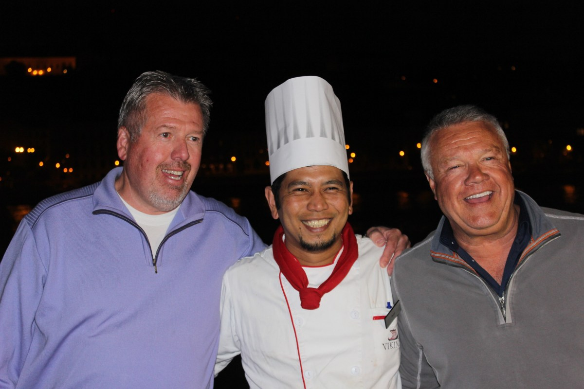 We are family - Bart, Chef Ruel, and Matt.