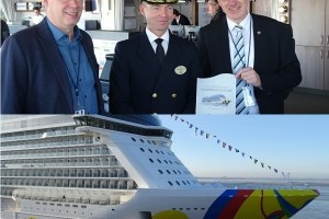 NORWEGIAN ENCORE in See gestochen