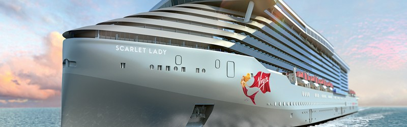Virgin Voyages Scarlet Lady Front View