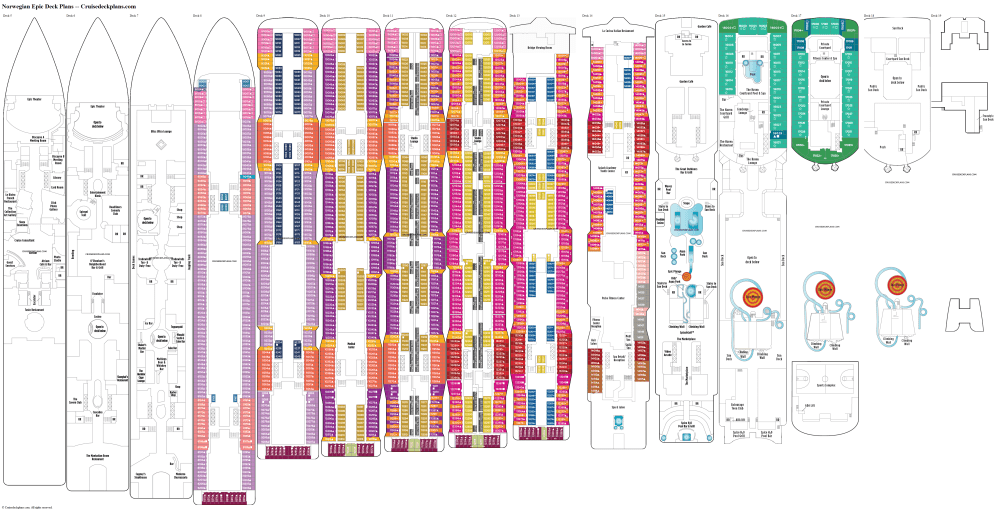 medium resolution of norwegian epic deck plans