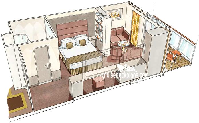 MSC Seaside Yacht Club Deluxe Suite Stateroom