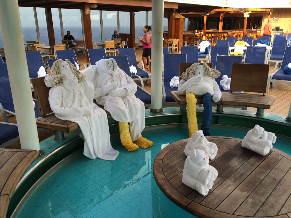 Meet The First Towel People At Sea By Carnival Magics