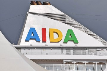 ©CruiseInd AIDA logo on AIDAvita taken in Miami.