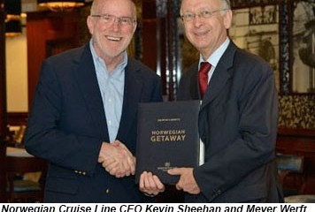 Kevin Sheehan Bernard Meyer Norwegian Getaway Delivery