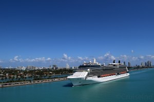 Celebrity Silhouette Arriving into Miami on March 4, 2018. Captured by Greg Dragonetti.