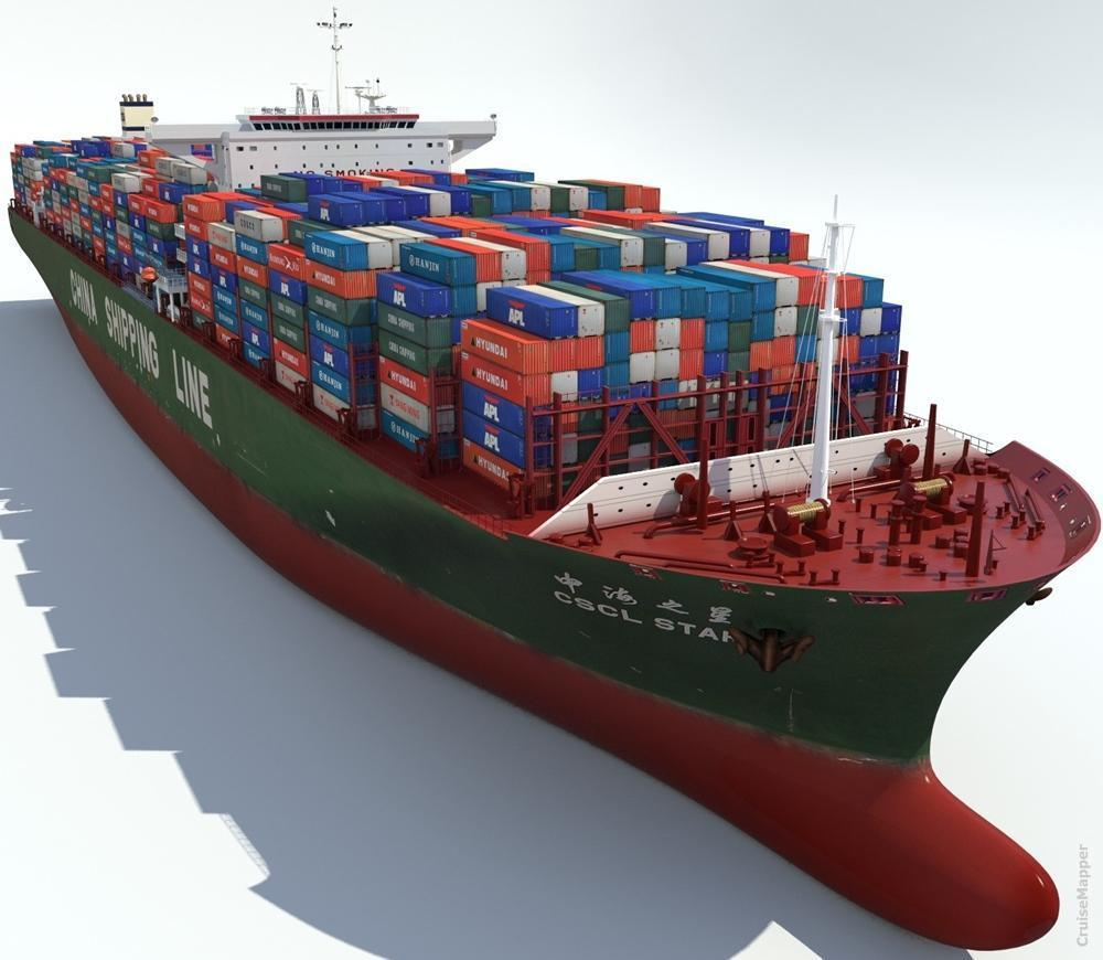 hight resolution of cargo container ship cscl