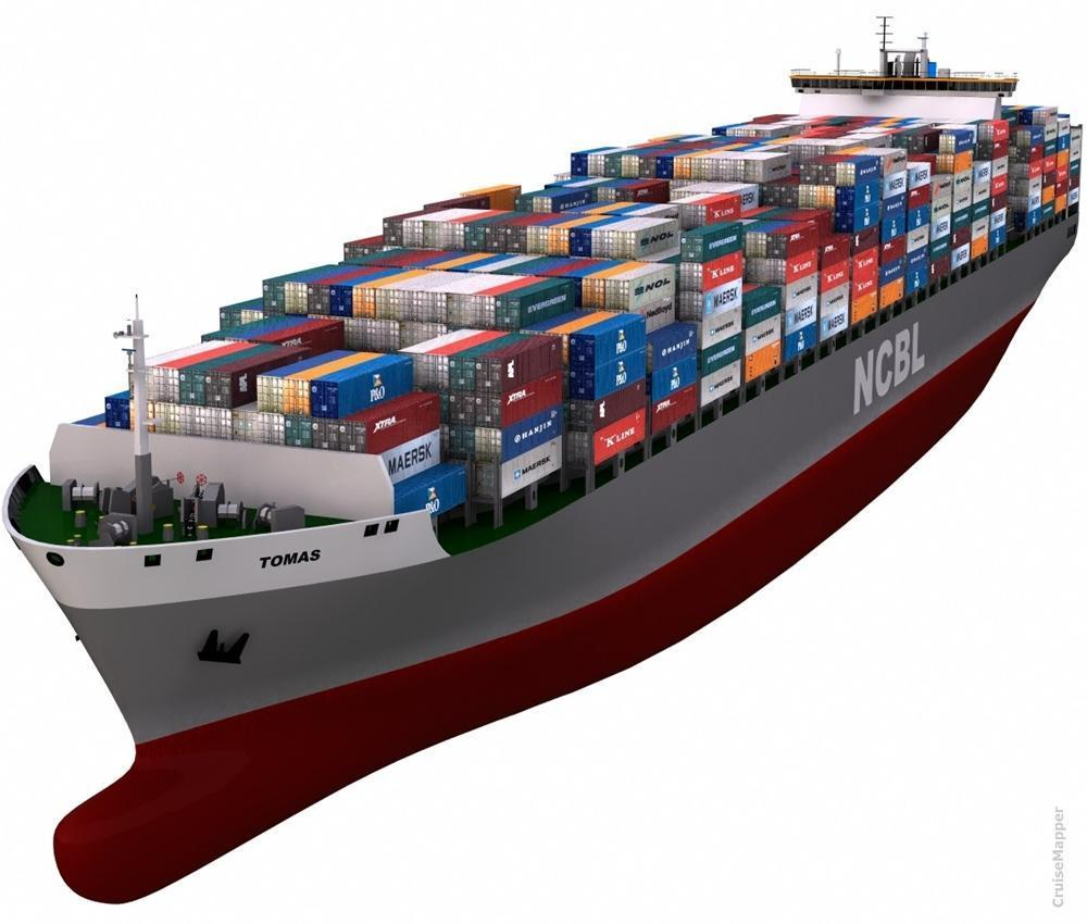 hight resolution of cargo container ship ncbl