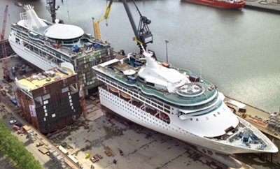 Afbeeldingsresultaat voor Enchantment of the Seas dry dock
