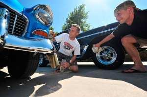 Logan and Cory Stickney | photo by Rick Tucker, Kearney Hub
