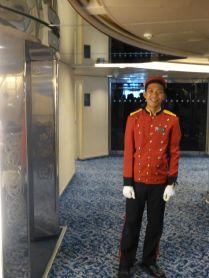 MS Prinsendam - liftboy