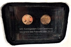 Coins in Koningsdam Coin Ceremony