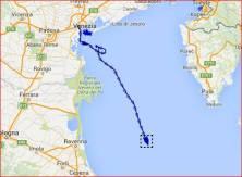 Route Koningsdam bij zeetest