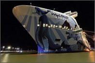 23-Norwegian-bliss-in-papenburg-cruiseship-bow-wide-angle-shot-at-night
