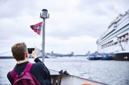 Marco bij Norwegian Pearl