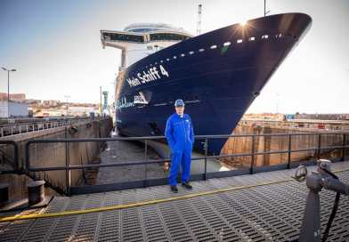 Mein Schiff 4 nu met walstroomfaciliteiten