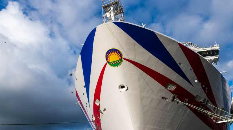 Cruiseschip Iona voor technical call in Rotterdam