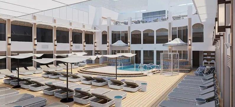 Courtyard Pool Norwegian Epic The Haven