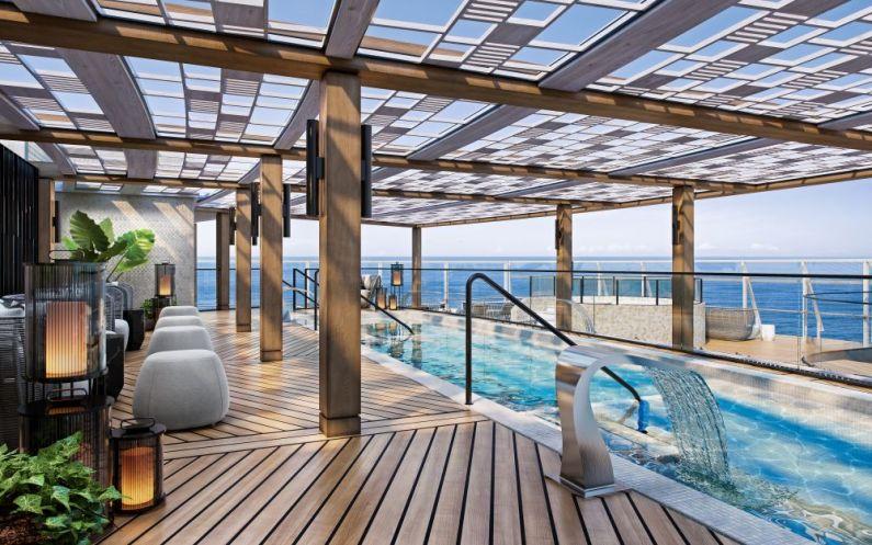 Vista Oceania Aquamar Spa + Vitality Center A Luxurious Sanctuary with indulgent spa terrace