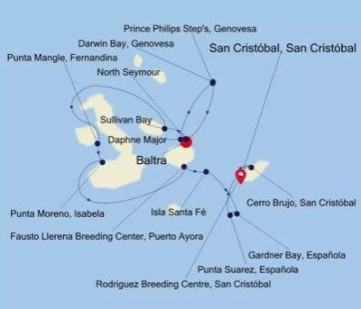 Silver Origin van Baltra naar San Cristobal