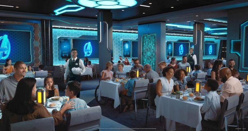 Disney Wish Worlds of Marvel Interior