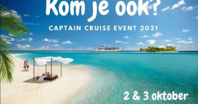 Cruisebeurs Captain Cruise op 2 en 3 oktober 2021 in Vlaardingen