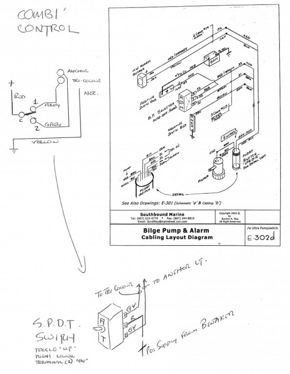 aqua alarm bilge panel wiring diagram