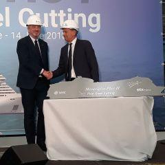 Ceremonia exclusiva de MSC Cruceros y STX en el astillero de Saint-Nazaire