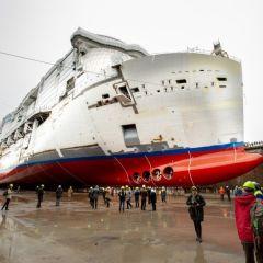 Costa Cruceros celebra la botadura de su nuevo barco, el Costa Smeralda