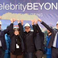 Celebrity Cruises presenta el tercer barco de la clase Edge, Celebrity Beyond, con el corte de acero