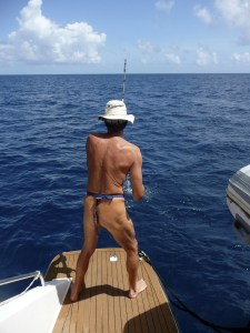 Fishing naked...not recommended.