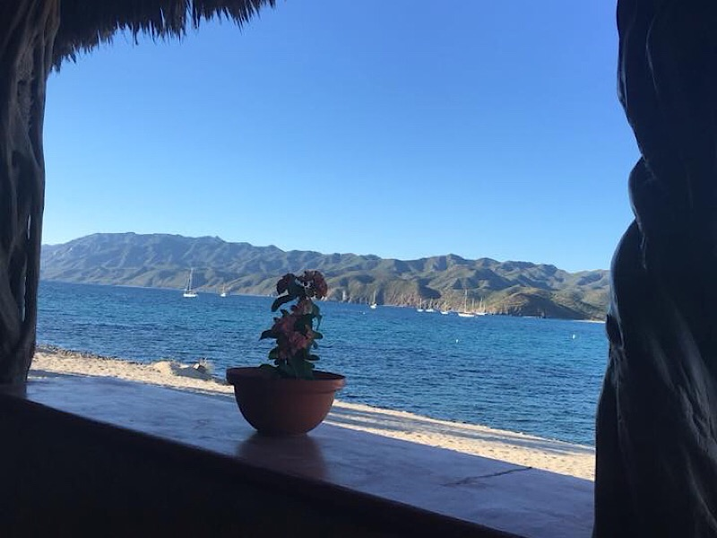 View from the beach restaurant in Los Suenos