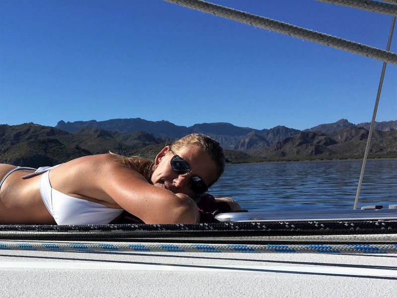 Jess Tanning at Star Cove