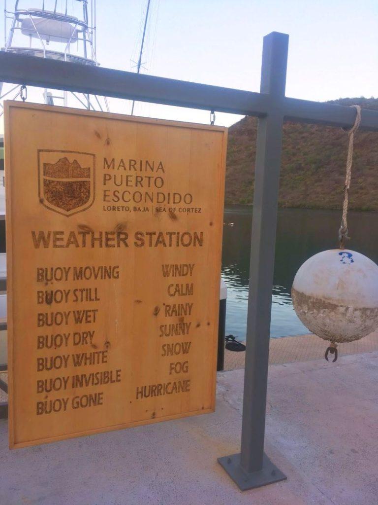 Weather station in Puerto Escondido