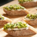 Fava and Ricotta Crostini