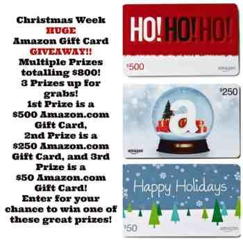 Christmas Week Giveaway Details