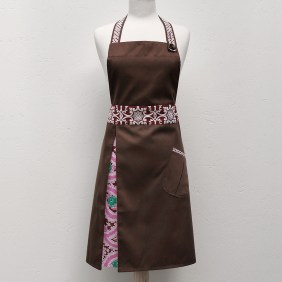 Lucille Apron in Pink Paisley