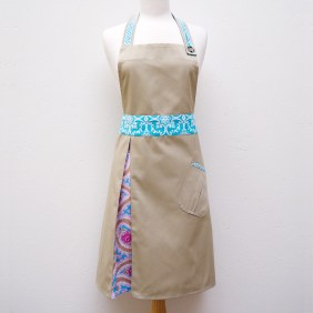 Lucille Apron in Paisley Turquoise