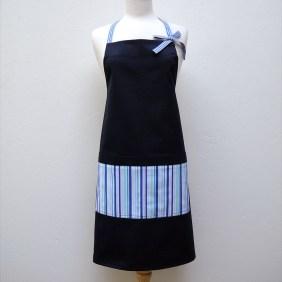 Audrey Apron in Blue Stripes