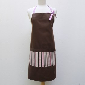 Audrey Apron in Pink Stripes
