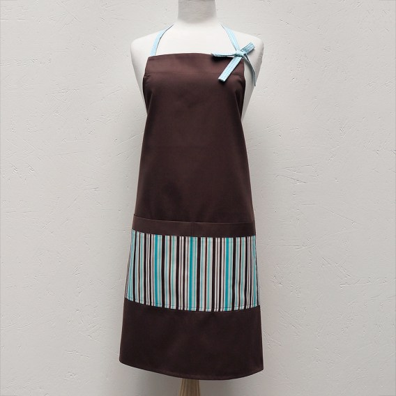 Audrey Apron in Turquoise Stripes