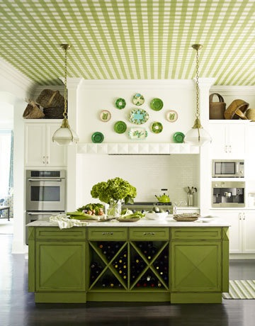 Green Gingham Kitchen