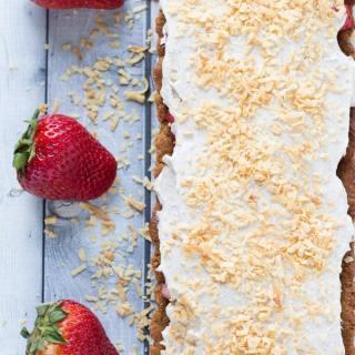 Almond Butter Strawberry Shortcake Tart with Coconut Cream