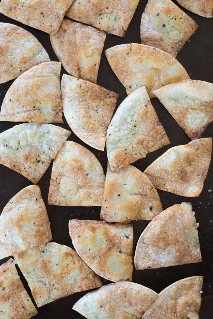 Sea Salt Lime Tortilla Chips with Creamy Kale Pesto
