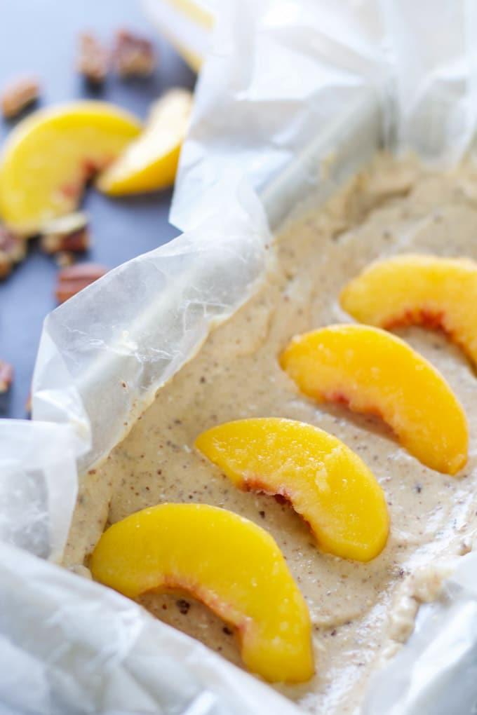 Stone Fruit Crisp with Peach Praline Ice Cream