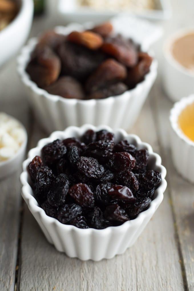 No-Bake Apricot Raisin Coconut Balls
