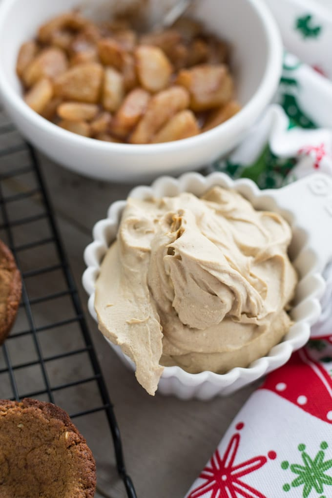 Coconut whip for the Spiced Pear Gingerbread Cookie Cups