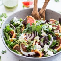 Grapefruit Salad with Cilantro and Goat Cheese