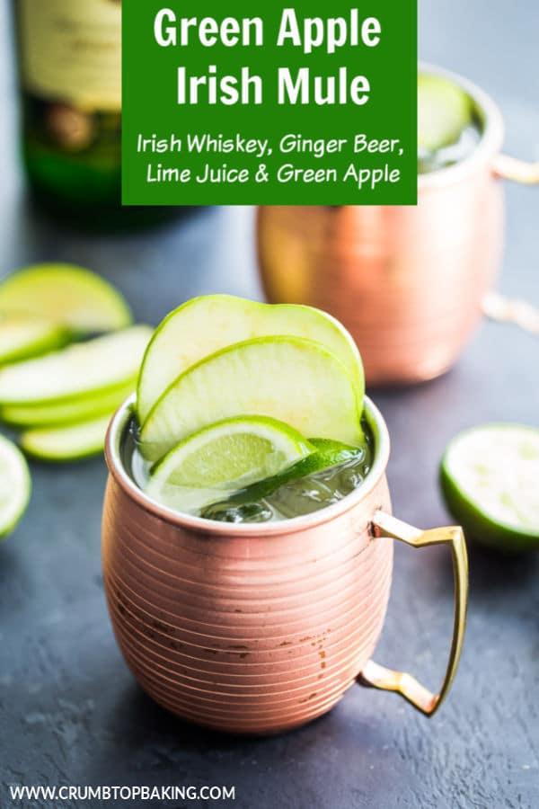 Pinterest image for Green Apple Irish Mule.